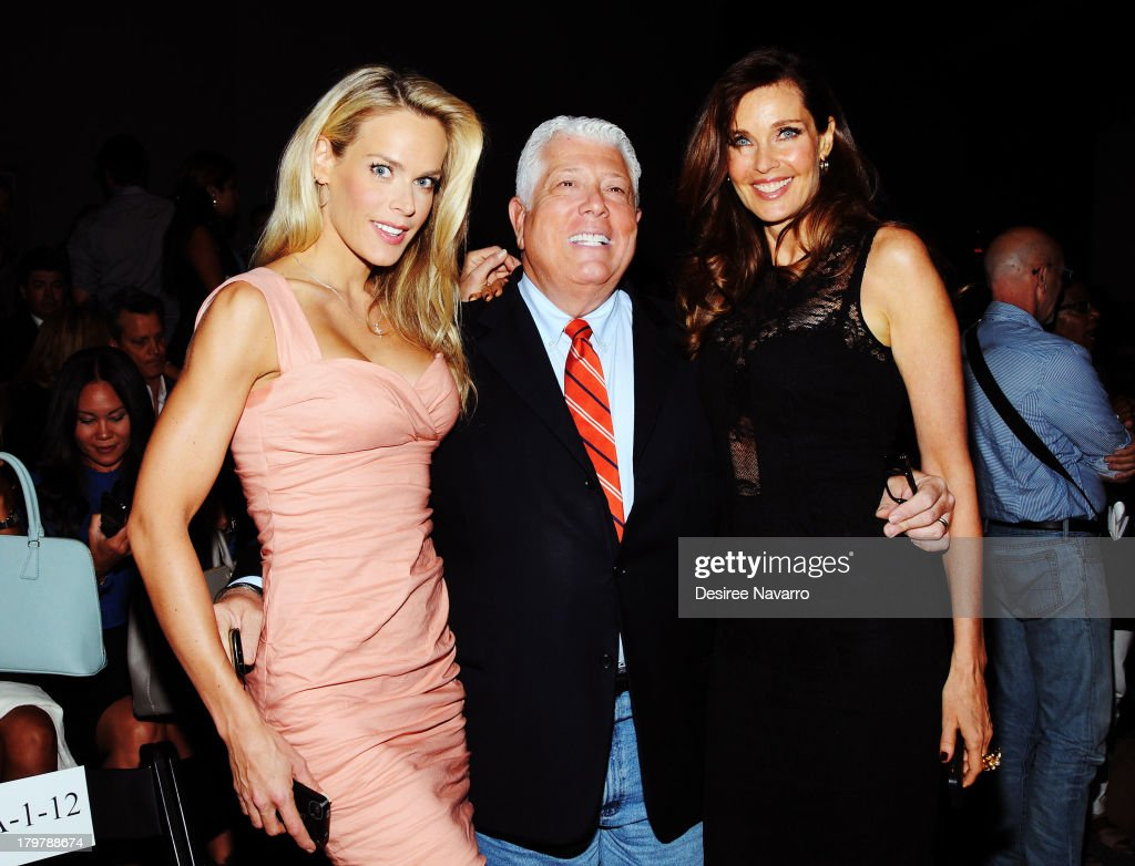 Dennis Basso and (R) <a gi-track='captionPersonalityLinkClicked' href=/galleries/search?phrase=Carol+Alt&family=editorial&specificpeople=202034 ng-click='$event.stopPropagation()'>Carol Alt</a> attend the Nicole Miller show during Spring 2014 Mercedes-Benz Fashion Week at The Studio at Lincoln Center on September 6, 2013 in New York City.