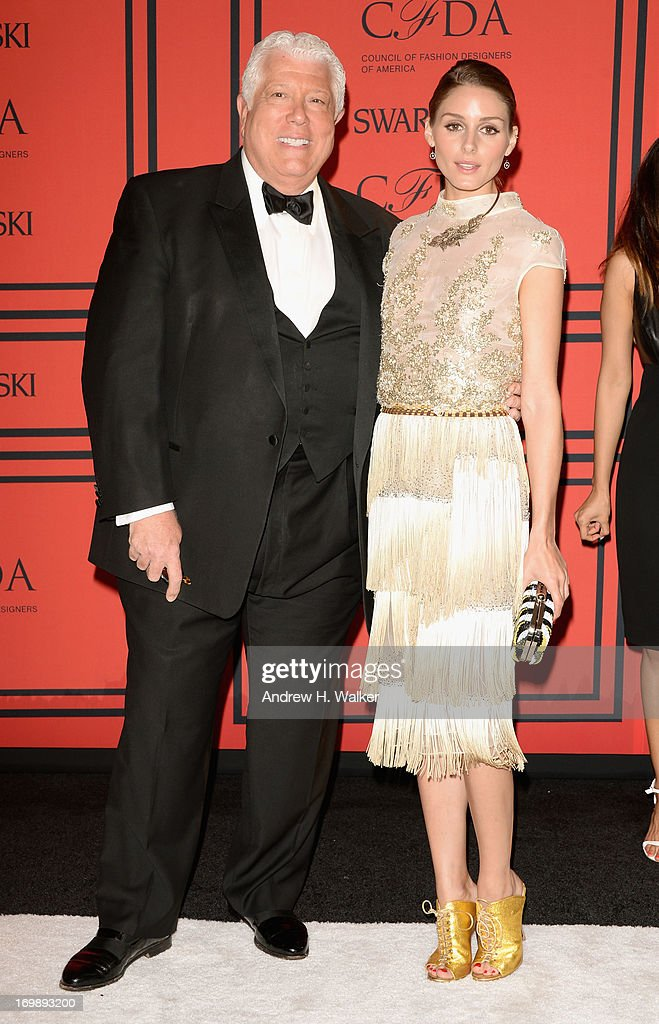 Dennis Basso and Olivia Palermo attend the 2013 CFDA Fashion Awards on June 3, 2013 in New York, United States.