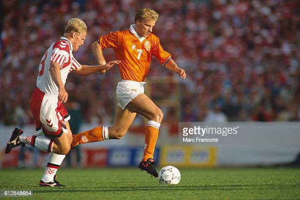 Dennis Bergkamp from the Netherlands during a semifinal of the 1992 UEFA European Football Championship against Denmark