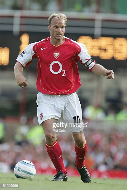 Dennis Bergkamp of Arsenal during the Barclays Premiership match between Arsenal and Middlesbrough at Highbury on August 22 2004 in London
