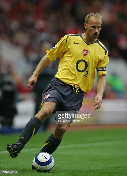 Dennis Bergkamp of Arsenal during the Barclays Premiership match between Middlesbrough and Arsenal on September 10 2005 in Middlesbrough England