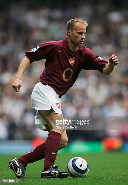 Dennis Bergkamp of Arsenal pictured during the Barclays Premiership match between Tottenham Hotspur and Arsenal at White Hart Lane on October 29 2005...