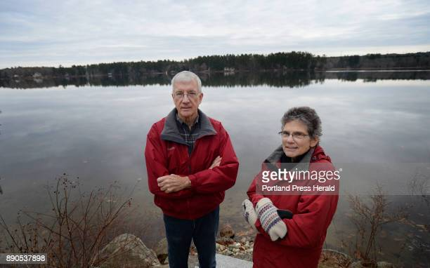 Dennis Brown treasurer of the Highland Lake Association and President Rosie Hartzler with Highland Lake in the background Tuesday November 28 2017...