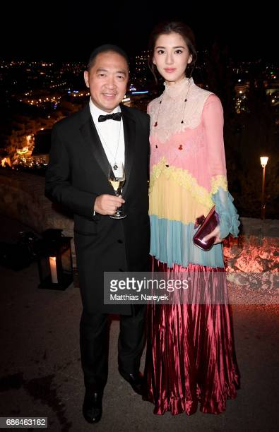 Dennis Chan and Fan Bingbing attend the Women in Motion Awards Dinner at the 70th Cannes Film Festival at Place de la Castre on May 21 2017 in Cannes...