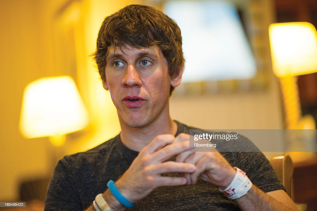 Dennis Crowley, co-founder and chief executive officer at Foursquare Labs Inc., speaks during an interview at the South By Southwest Conference in Austin, Texas, U.S., on Saturday, March 9, 2013. The 20th annual SXSW Interactive Festival takes place March 8-12. Photographer: David Paul Morris/Bloomberg via Getty Images
