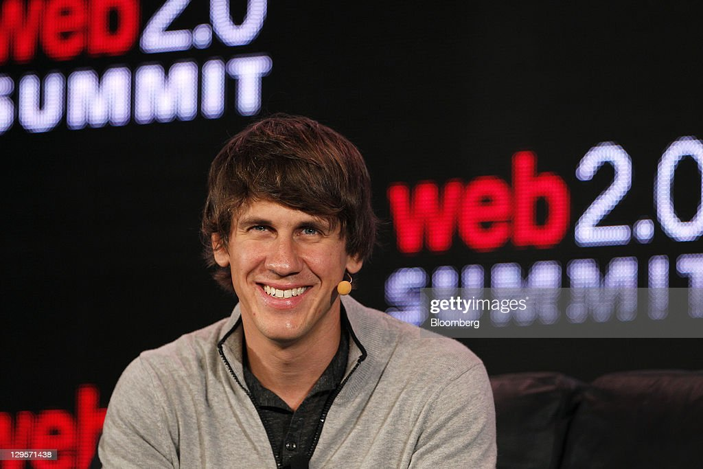 <a gi-track='captionPersonalityLinkClicked' href=/galleries/search?phrase=Dennis+Crowley&family=editorial&specificpeople=6729326 ng-click='$event.stopPropagation()'>Dennis Crowley</a>, co-founder and chief executive officer of Foursquare Labs Inc., smiles at the Web 2.0 Summit in San Francisco, California, U.S., on Tuesday, Oct. 18, 2011. The conference brings together 1,000 senior executives from the worlds of technology, media, finance, telecommunications, entertainment, and the Internet. Photographer: Tony Avelar/Bloomberg via Getty Images