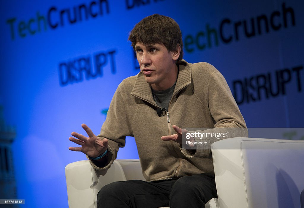 <a gi-track='captionPersonalityLinkClicked' href=/galleries/search?phrase=Dennis+Crowley&family=editorial&specificpeople=6729326 ng-click='$event.stopPropagation()'>Dennis Crowley</a>, co-founder of Foursquare Labs Inc., speaks during the TechCrunch Disrupt NYC 2013 conference in New York, U.S., on Monday, April 29, 2013. The event features leaders from various technology fields and includes a competition for the best new startup company. Photographer: Scott Eells/Bloomberg via Getty Images