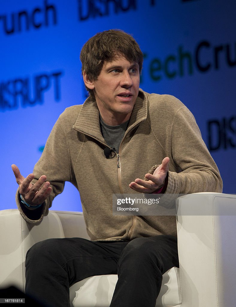 Dennis Crowley, co-founder of Foursquare Labs Inc., speaks during the TechCrunch Disrupt NYC 2013 conference in New York, U.S., on Monday, April 29, 2013. The event features leaders from various technology fields and includes a competition for the best new startup company. Photographer: Scott Eells/Bloomberg via Getty Images