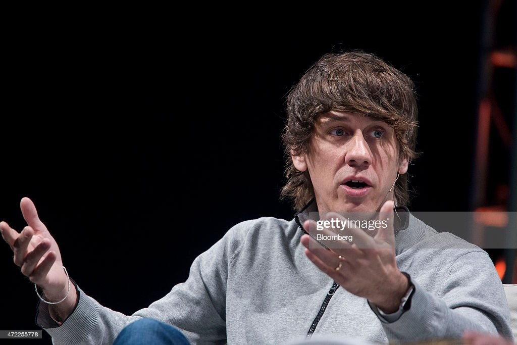 <a gi-track='captionPersonalityLinkClicked' href=/galleries/search?phrase=Dennis+Crowley&family=editorial&specificpeople=6729326 ng-click='$event.stopPropagation()'>Dennis Crowley</a>, co-founder of Foursquare Labs Inc., speaks during the TechCrunch Disrupt NYC 2015 conference in New York, U.S., on Tuesday, May 5, 2015. TechCrunch features leaders from various technology fields and includes a competition for the best new startup company. Photographer: Michael Nagle/Bloomberg via Getty Images