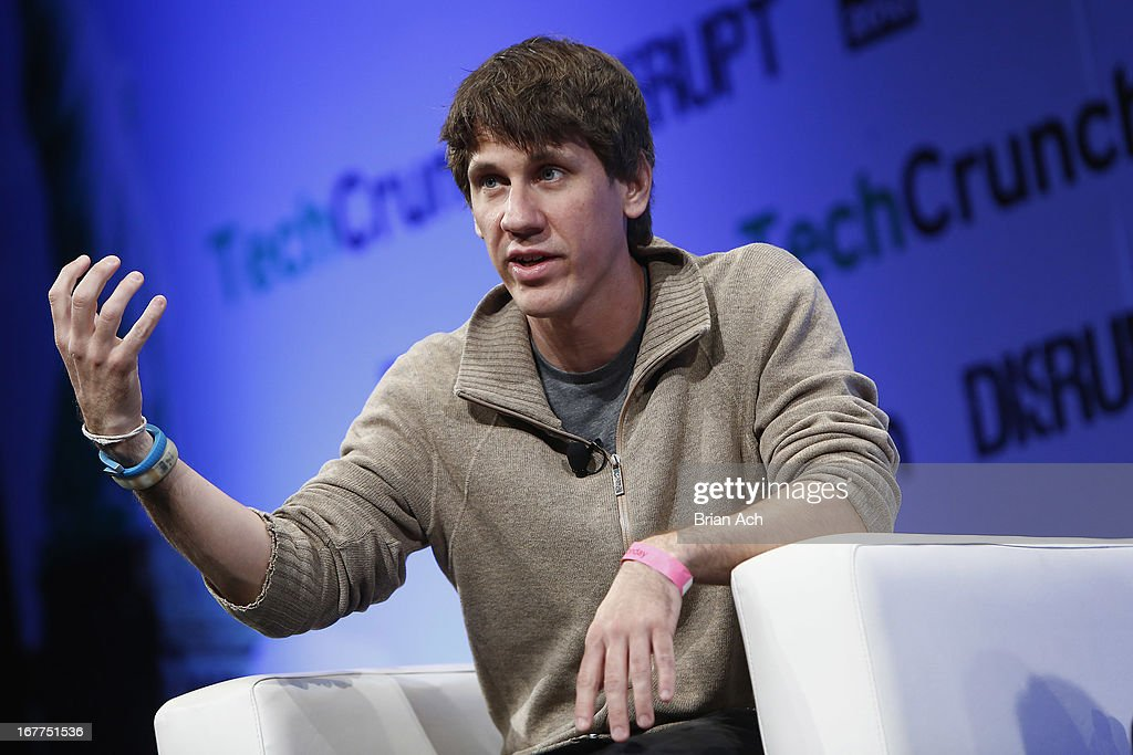 <a gi-track='captionPersonalityLinkClicked' href=/galleries/search?phrase=Dennis+Crowley&family=editorial&specificpeople=6729326 ng-click='$event.stopPropagation()'>Dennis Crowley</a> of Foursquare speaks onstage at the TechCrunch Disrupt NY 2013 at The Manhattan Center on April 29, 2013 in New York City.