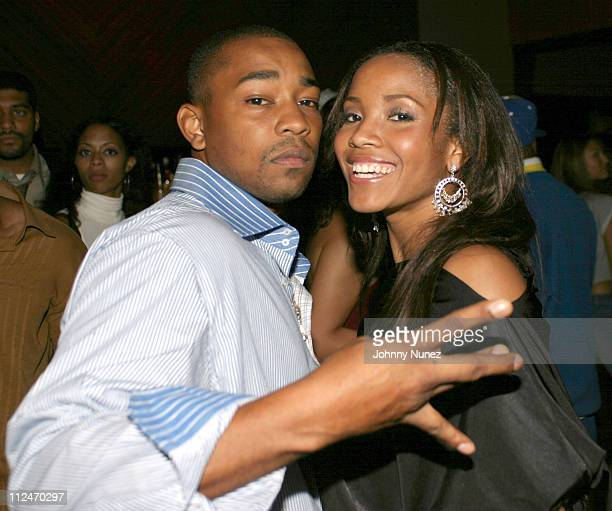 Dennis Da Menace of Fuse TV and Shauntay Hinton during Direct Impulse's Blend Party September 29 2003 at Lobby in New York City New York United States