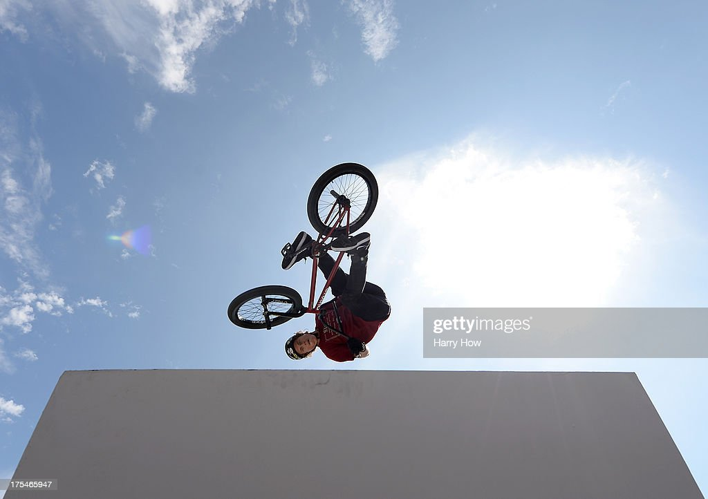 Dennis Enarson competes in the BMX Steet Final during X Games Los Angeles at the Event Deck at L. A. Live on August 3, 2013 in Los Angeles, California.