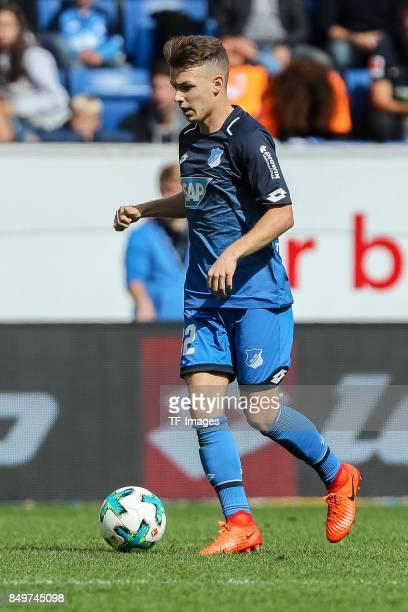 Dennis Geiger of Hoffenheim controls the ball during the Bundesliga match between TSG 1899 Hoffenheim and Hertha BSC at Wirsol RheinNeckarArena on...