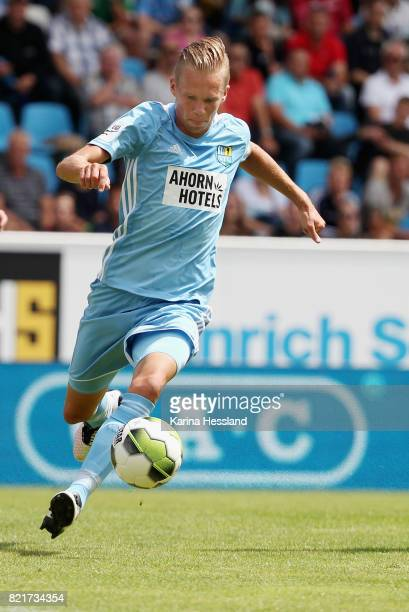 Dennis Grote of Chemnitz during the 3Liga match between Chemnitzer FC and FSV Zwickau at community4you Arena on July 23 2017 in Chemnitz Germany
