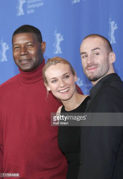 Dennis Haybert Diane Kruger and Joseph Fiennes during The 57th Berlinale International Film Festival 'Goodbye Bafana' Photocall in Berlin Germany