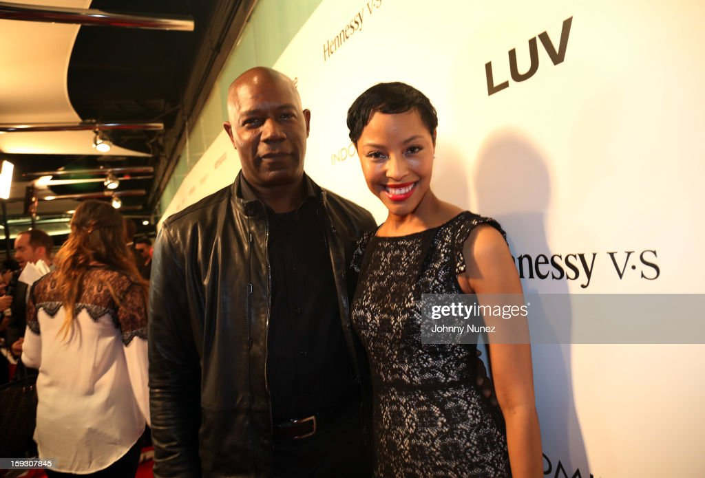 <a gi-track='captionPersonalityLinkClicked' href=/galleries/search?phrase=Dennis+Haysbert&family=editorial&specificpeople=212993 ng-click='$event.stopPropagation()'>Dennis Haysbert</a> and Tracey Heggins attend the Los Angeles premiere screening of 'LUV' at Pacific Design Center on January 10, 2013 in West Hollywood, California.