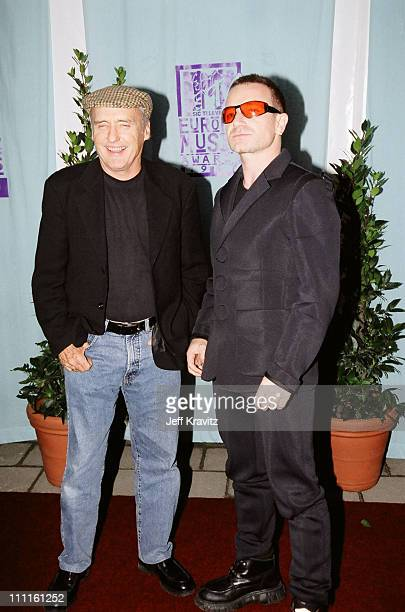 Dennis Hopper and Bono during 1997 MTV Europe Music Awards in Los Angeles California United States