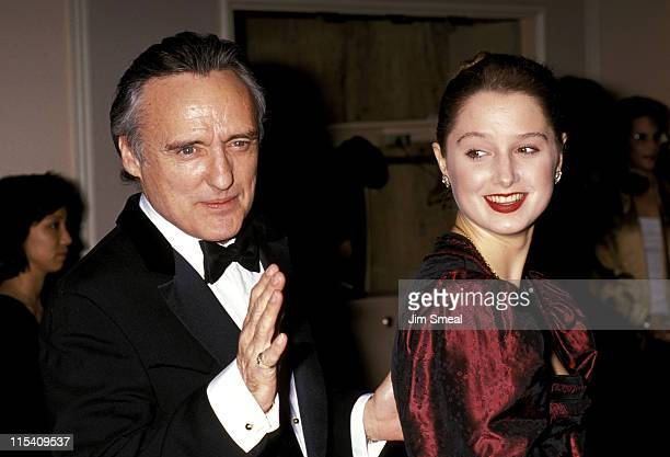 Dennis Hopper and wife Katherine La Nasa during American Film Institute Honors Gregory Peck at Beverly Hilton Hotel in Beverly Hills CA United States