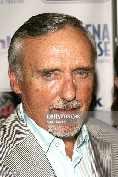Dennis Hopper during Opening Night of August Wilson's Play 'Fences' at Pasadena Playhouse in Pasadena California United States