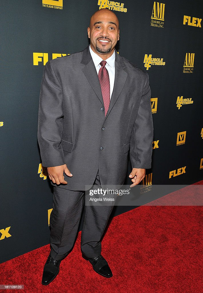 Dennis James arrives at the Los Angeles premiere of 'GENERATION IRON' at Chinese 6 Theater Hollywood on September 18, 2013 in Hollywood, California.