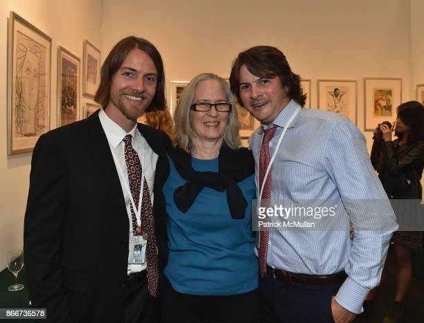 Dennis Kiley Virgin Budny and Owen Kiley attend the IFPDA Fine Art Print Fair Opening Preview at The Jacob K Javits Convention Center on October 25...