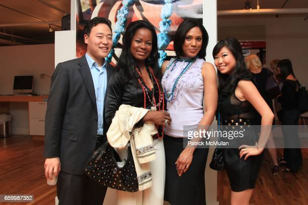 Dennis Kim Macdella Cooper Farrah Fogerty and Lianne Zhang attend Tribal Societé Launch at 333 Hudson St on May 14 2009 in New York