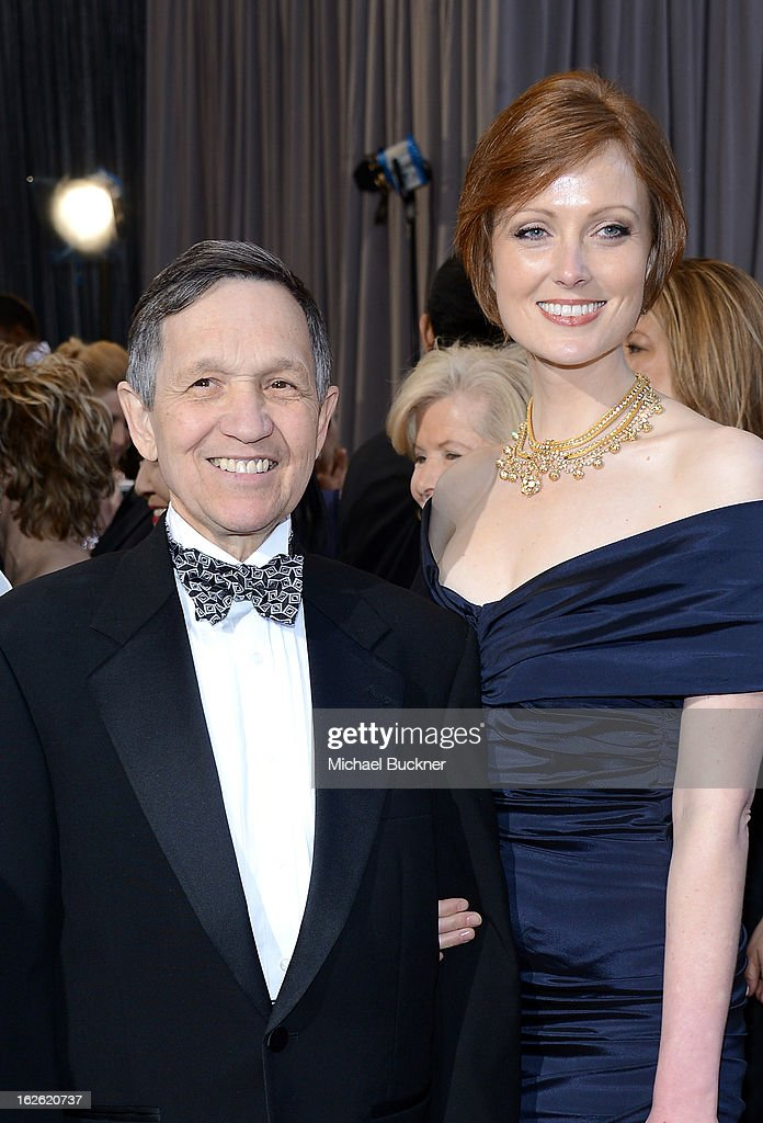 Dennis Kucinich and wife Elizabeth Harper Kucinich arrive at the Oscars at Hollywood Highland Center on February 24 2013 in Hollywood California