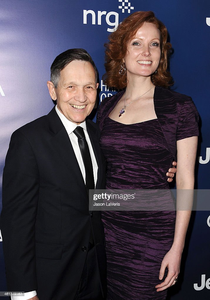 Dennis Kucinich and wife Elizabeth Kucinich attend the 'Help Haiti Home' gala at Montage Hotel on January 10 2015 in Los Angeles California