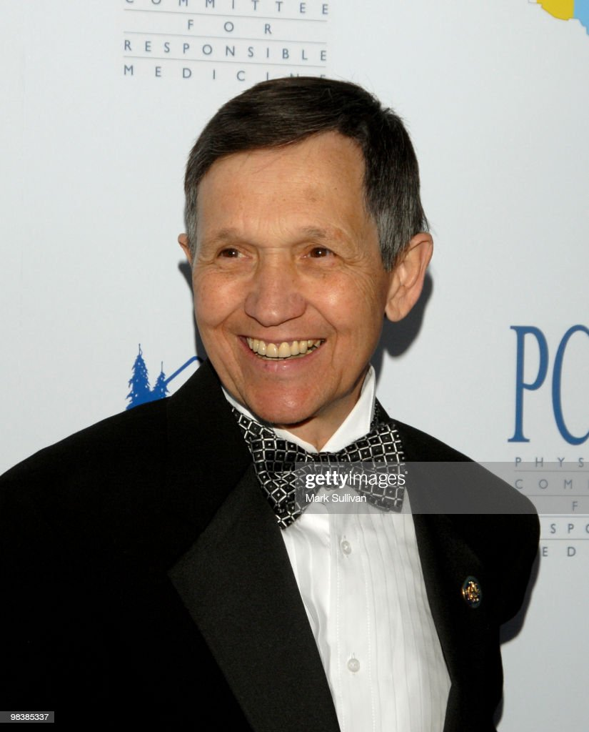 Dennis Kucinich arrives at The Art of Compassion PCRM 25th Anniversary Gala at The Lot in West Hollywood on April 10 2010 in West Hollywood California