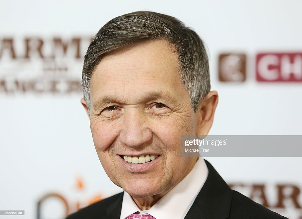 Dennis Kucinich arrives at the Chipotle world premiere of original comedy web series 'Farmed And Dangerous' held at DGA Theater on February 11 2014...