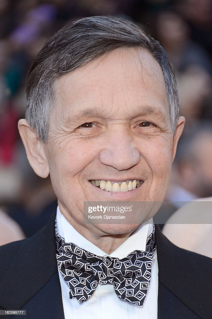 Dennis Kucinich arrives at the Oscars at Hollywood Highland Center on February 24 2013 in Hollywood California