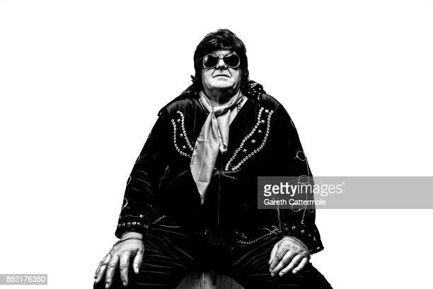 Dennis Lewis 65 of Abergavenny poses during a portrait session at 'The Elvies' on September 22 2017 in Porthcawl Wales 'The Elvies' is an annual...