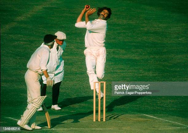 Dennis Lillee bowling David Steele backing up and Tom Spencer the umpire England v Australia 2nd Test Lord's July 1975