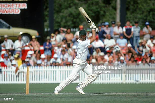 Dennis Lillee of Australia batting during the 3rd test in the match between Australia and the West Indies held in January 1980 in Adelaide Australia