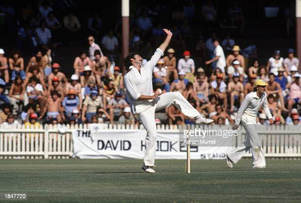 Dennis Lillee of Australia bowling during the Supertest between Australia and the West Indies held in January 1979 in Sydney Australia