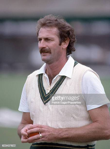Dennis Lillee of Australia in the nets at Lord's Cricket Ground London 3rd June 1981