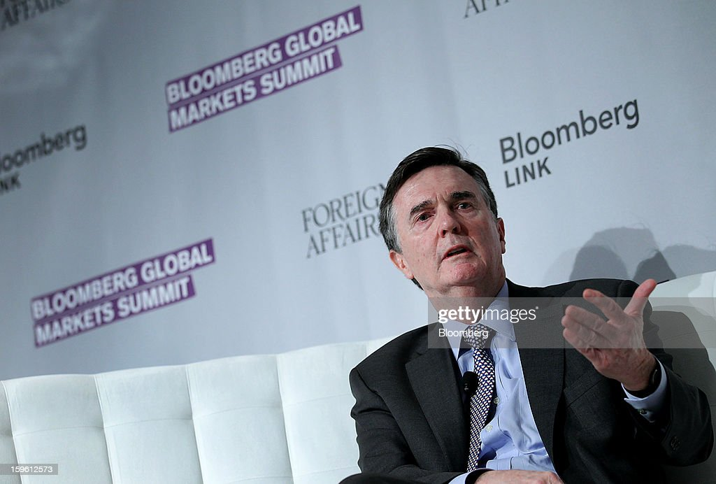 Dennis Lockhart, president and chief executive officer of the Federal Reserve Bank of Atlanta, speaks at the Bloomberg Global Markets Summit in New York, U.S., on Thursday, Jan. 17, 2013. The Bloomberg Global Markets Summit, co-hosted by Foreign Affairs Magazine and Bloomberg LINK, convenes market makers and market movers as investors map their strategy for the year ahead. Photographer: Jin Lee/Bloomberg via Getty Images
