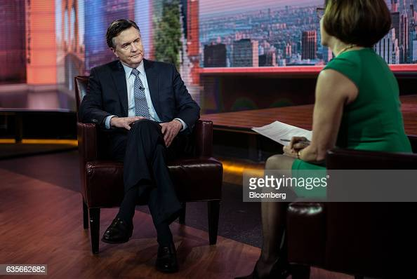 Dennis Lockhart president of the Federal Reserve Bank of Atlanta listens during a Bloomberg Television interview in New York US on Thursday Feb 16...