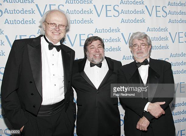 Dennis Muren Steve Wozniak and George Lucas during The 5th Annual VES Awards at Kodak Theater in Hollywood CA United States