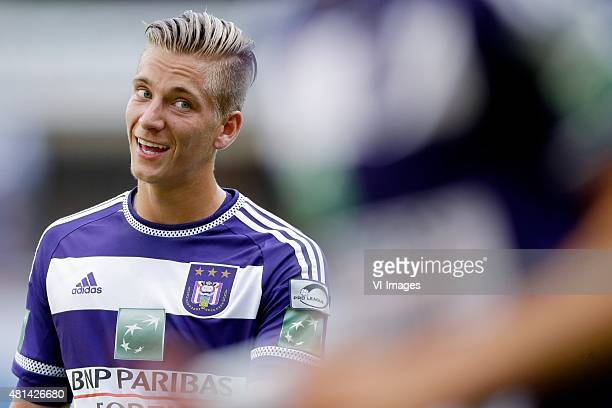 Dennis Praet of Anderlecht during the preseason friendly match between RSC Anderlecht and SS Lazio Roma on July 19 2015 at the Constant Vanden Stock...