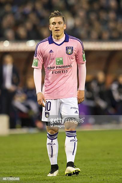 Dennis Praet of RSC Anderlecht during the Belgian Cup final between Club Brugge and RSC Anderlecht on March 22 2015 at the Koning Boudewijn stadium...