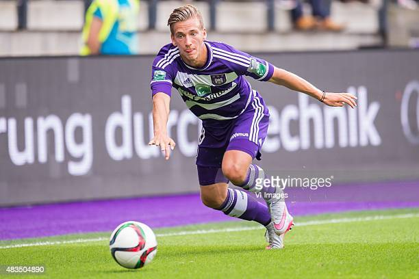 Dennis Praet of RSC Anderlecht during the Jupiler Pro League match between RSC Anderlecht and KAA Gent on August 9th 2015 at the Constant Vanden...