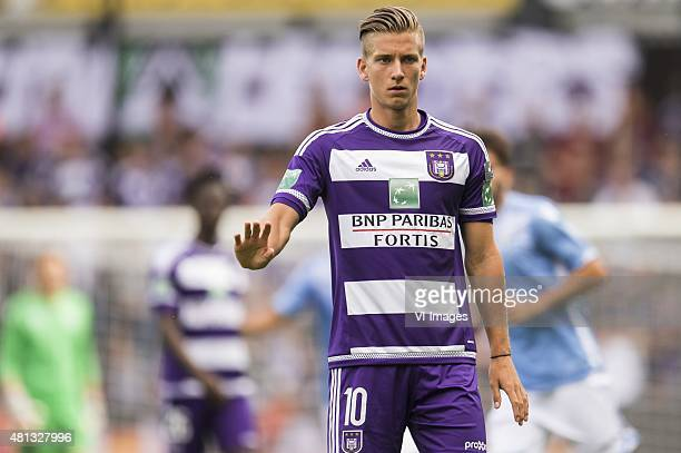 Dennis Praet of RSC Anderlecht during the preseason friendly match between RSC Anderlecht and SS Lazio Roma on July 19 2015 at the Constant Vanden...