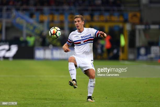 Dennis Praet of UC Sampdoria in action during the Serie A football match between Fc Internazionale and Uc Sampdoria Fc Internazionale wins 32 over Uc...
