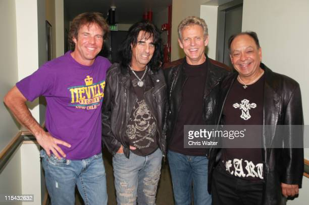 Dennis Quaid Alice Cooper Don Felder and Cheech Marin at Don Felder and friends Rock Cerritos for Katrina