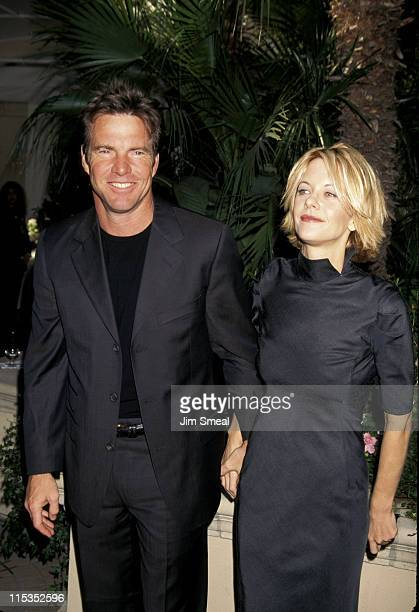 Dennis Quaid and Meg Ryan during Premiere Magazine 5th Annual 'Women in Hollywood' Luncheon at Four Seasons Hotel in Beverly Hills California United...
