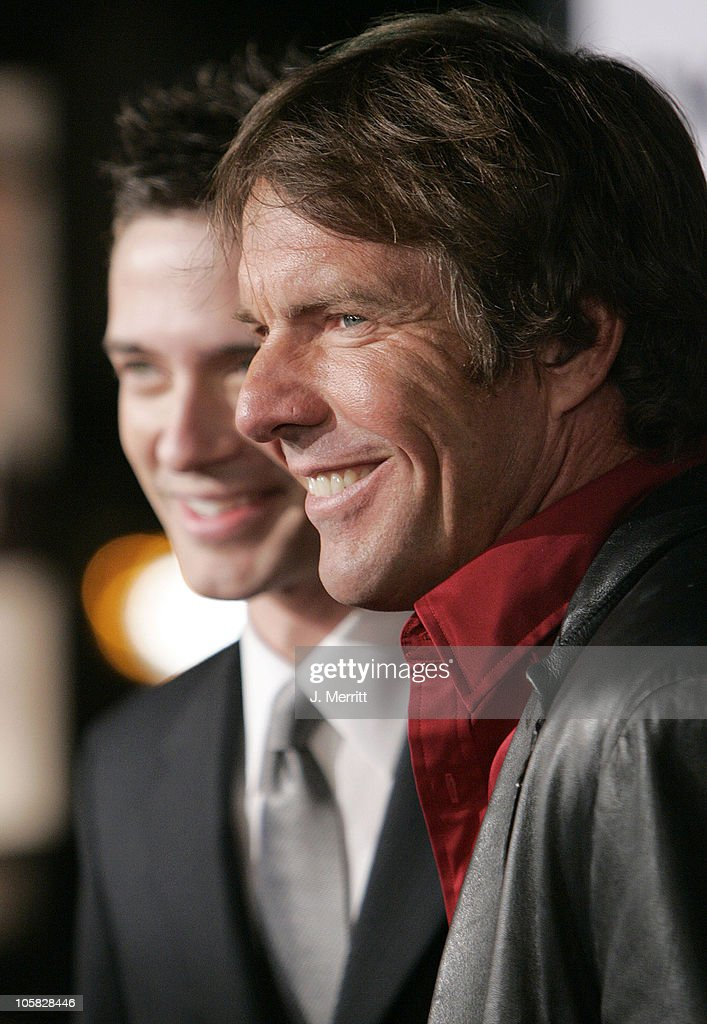 <a gi-track='captionPersonalityLinkClicked' href=/galleries/search?phrase=Dennis+Quaid&family=editorial&specificpeople=201916 ng-click='$event.stopPropagation()'>Dennis Quaid</a> and <a gi-track='captionPersonalityLinkClicked' href=/galleries/search?phrase=Topher+Grace&family=editorial&specificpeople=203130 ng-click='$event.stopPropagation()'>Topher Grace</a> during 'In Good Company' World Premiere - Arrivals at Grauman's Chinese Theater in Hollywood, California, United States.