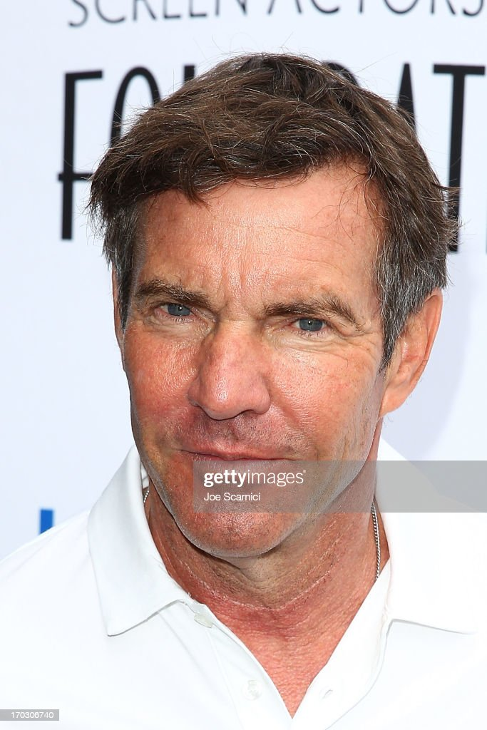 <a gi-track='captionPersonalityLinkClicked' href=/galleries/search?phrase=Dennis+Quaid&family=editorial&specificpeople=201916 ng-click='$event.stopPropagation()'>Dennis Quaid</a> arrives to the Screen Actors Guild Foundation's 4th annual Los Angeles golf classic at Lakeside Golf Club on June 10, 2013 in Burbank, California.