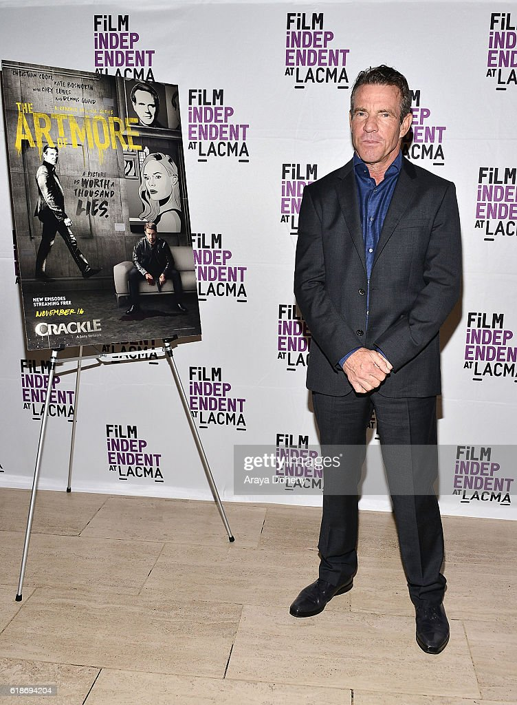 Dennis Quaid attends the Film Independent at LACMA screening and Q&A of 'The Art Of More' at LACMA on October 27, 2016 in Los Angeles, California.