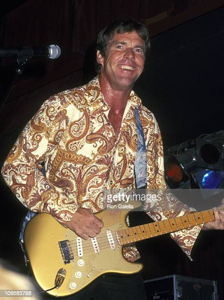 Dennis Quaid during Dennis Quaid the Sharks Concert Performance August 1 2002 at BB King's Blues Club in New York City New York United States